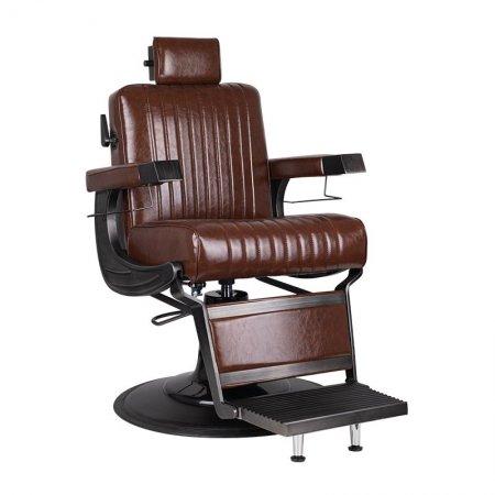 Fotel barberski Gabbiano Continental Loft, brązowy