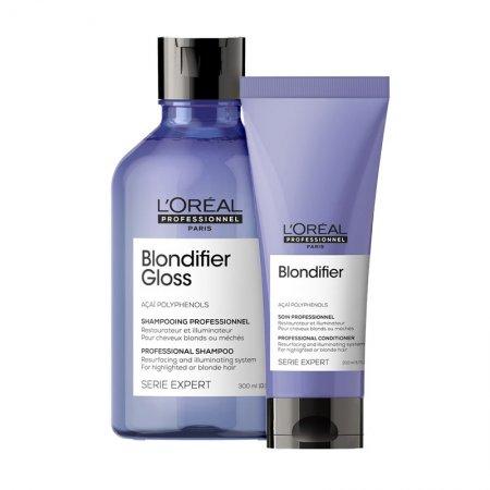 Loreal Blondifier Gloss, zestaw do włosów blond, 300ml + 200ml