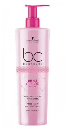 Schwarzkopf BC Color Freeze pH 4.5, micelarna odżywka myjąca chroniąca kolor, 500ml