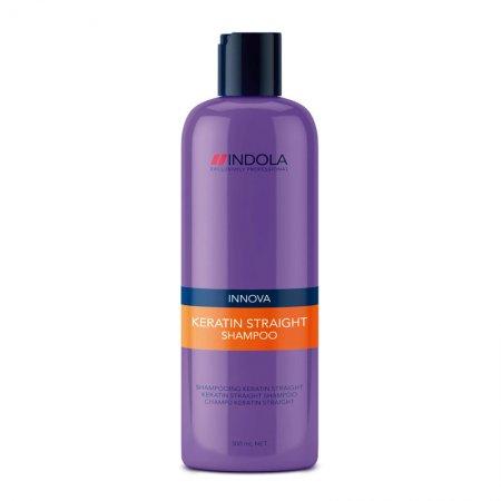 Indola Keratin Straight, keratynowy szampon prostujący, 300ml