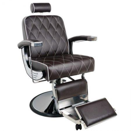 Fotel barberski Gabbiano Imperial, brązowy
