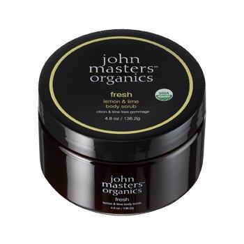 John Masters Organics, odświeżająca cytryna & limonka, peeling do ciała, 136g