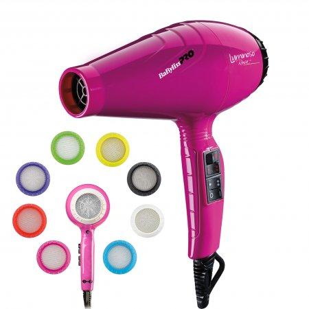 BaByliss Pro Luminoso Rosa, suszarka do włosów, 2100W, BAB6350IFE