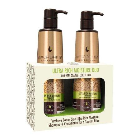 Macadamia Ultra Rich Moisture, szampon + odzywka do włosów bardzo grubych, 2x500ml