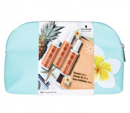 Schwarzkopf BC Sun Protect, szampon 100ml + olejek 100ml + odżywka 100ml + kosmetyczka