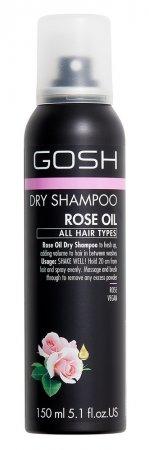 GOSH, suchy szampon do włosów z olejkiem różanym, 150ml