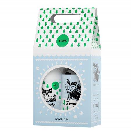 Yope, zestaw Zimowy Las, mydło 500ml + balsam 300ml