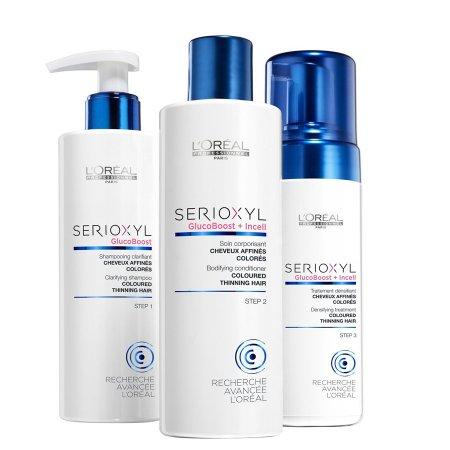 Loreal Serioxyl, 3 - stopniowy zestaw wzmacniający do włosów farbowanych