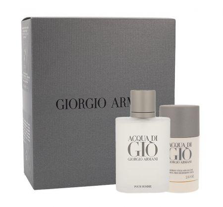 Giorgio Armani Acqua di Gio Pour Homme, zestaw: Edt 100ml + 75ml deo stick (M)