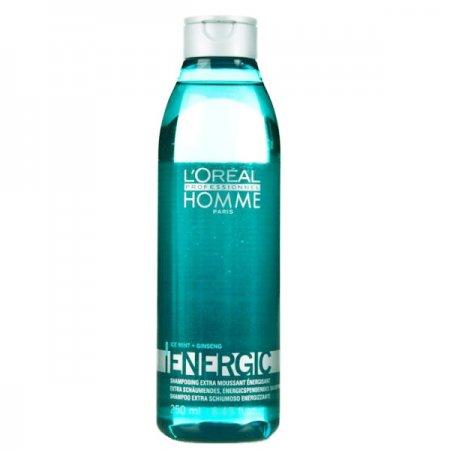 Loreal Homme Energic, szampon odświeżający dla mężczyzn, 250 ml