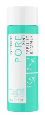 Catrice Pore 2 in 1, tonik złuszczający z kwasami AHA i BHA, 100ml