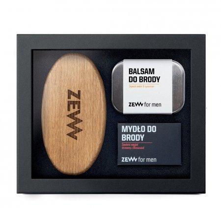 ZEW for Men, zestaw Zimowy Zadbany Brodacz, mydło + szczotka + balsam