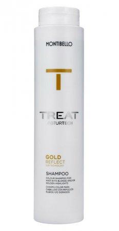Montibello Treat Naturtech, koloryzujący szampon do włosów farbowanych Color Reflect, złoty, 300ml