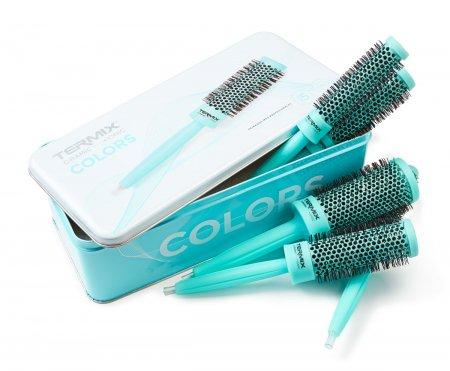 Termix C-Ramic Mint, zestaw szczotek do włosów, 5 szt.