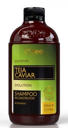 Three Therapy Teia Caviar, odbudowujący szampon po nanoplastii, 500g