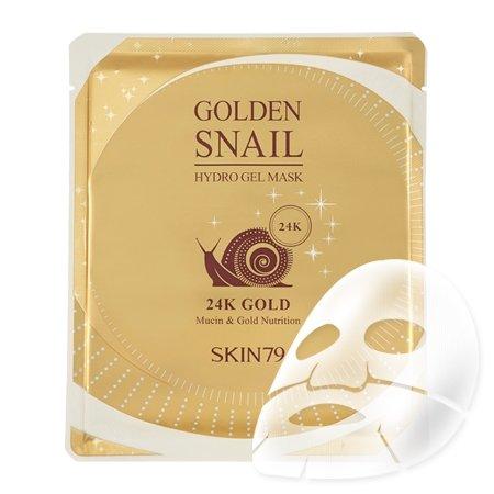 SKIN79 Golden Snail, hydrożelowa maska ze śluzem ślimaka i 24-karatowym złotem, 25g