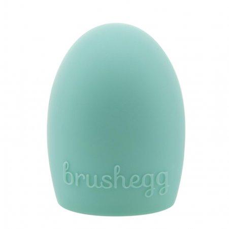 Brushegg jajeczko do czyszczenia pędzli do makijażu, miętowe