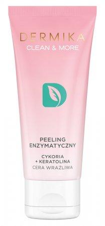 Dermika Clean&More, peeling enzymatyczny cykoria + keratolina, 75ml