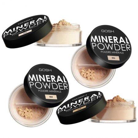 Gosh Mineral Powder, puder mineralny do twarzy, sypki, 8g