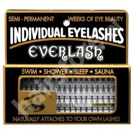 Everlash kępki rzęs, średnie, czarne, 80 sztuk
