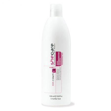 Inebrya Shecare, szampon regenerujący włosy po zabiegach chemicznych, 1000ml