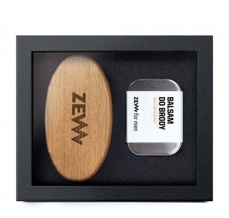 ZEW for Men, zestaw Zimowy Stylowy Brodacz, szczotka + balsam