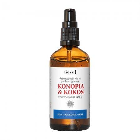 Iossi Konopia i Kokos, olejowy zabieg dla włosów przetłuszczających się, 100ml