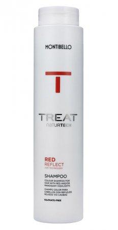 Montibello Treat Naturtech, koloryzujący szampon do włosów farbowanych Color Reflect, czerwony, 300ml