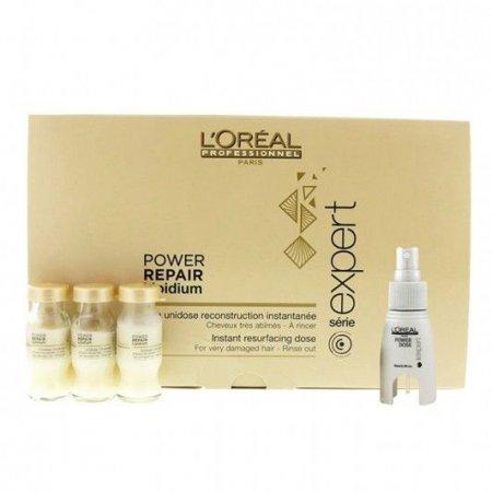 Loreal Absolut Repair Lipidium, kuracja do włosów zniszczonych, ampułki, 30x10ml