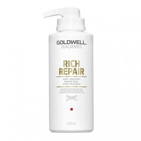 Goldwell Dualsenses Rich Repair, 60-sekundowa kuracja odbudowująca, 500ml