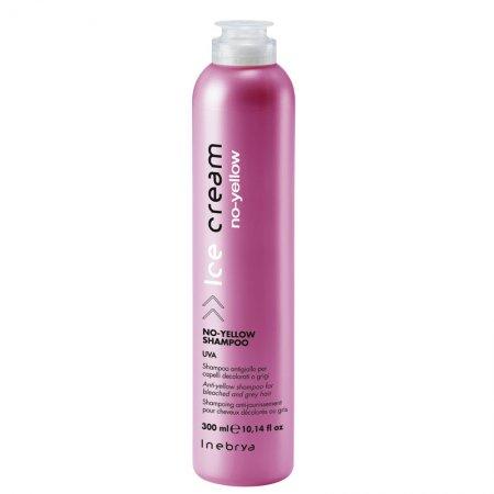 Inebrya No Yellow, szampon do włosów siwych i rozjaśnianych, 300ml
