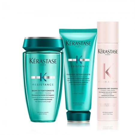 Kerastase, zestaw K Resistance Extentioniste z suchym szamponem, 250ml+150ml+233ml