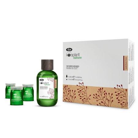 Lisap Keraplant Nature, Wypadanie włosów, zestaw kuracja+szampon - uszkodzone opakowanie