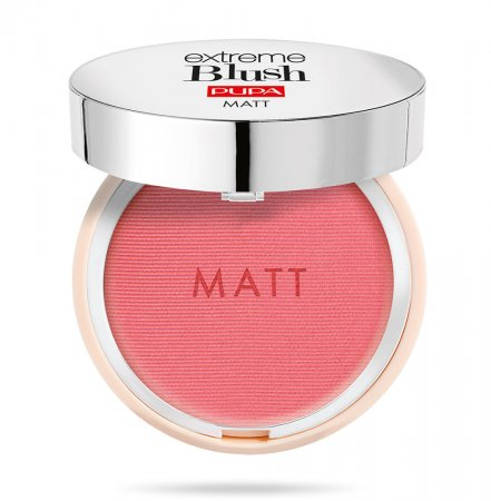 Pupa Extreme Blush Matt, róż do policzków o efekcie naturalnego rumieńca, 004 Daring Pink