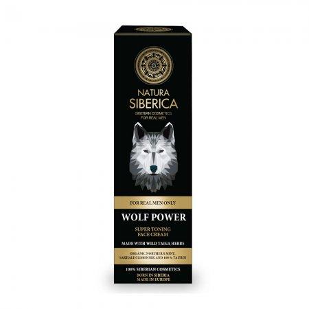 Natura Siberica Wolf Power, tonizujący krem do twarzy, 50ml