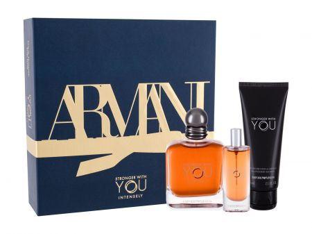 Giorgio Armani Emporio Armani Stronger With You Intensely, zestaw: Edp 100 ml + Edp 15 ml + Żel pod prysznic 75 ml (M)