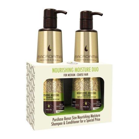 Macadamia Nourishing Moisture, szampon + odżywka do włosów normalnych, 2x500ml