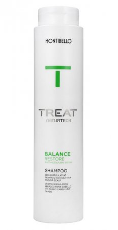 Montibello Treat Naturtech, szampon do włosów przetłuszczających się Balance Restore, 300 ml