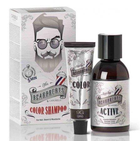 Beardburys, szampon koloryzujący 9G, szary