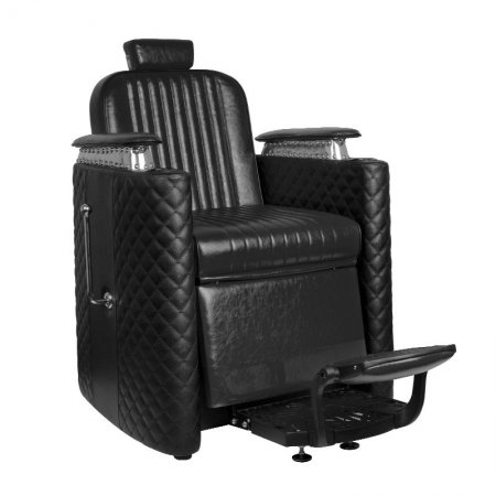 Fotel barberski Gabbiano Bernardo, czarny