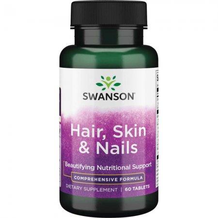 Swanson, włosy, skóra i paznokcie, 60 tabletek