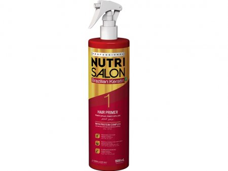 NutriSalon Brazilian Keratin, podkład przygotowujący włosy, krok 1, 500ml