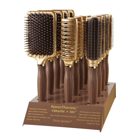 Olivia Garden Nano Thermic Styling Display, zestaw szczotek do stylizacji włosów, 12szt