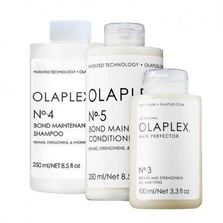 Olaplex, zestaw odbudowujący do włosów zniszczonych, No.3-5, 2x250ml + 100ml