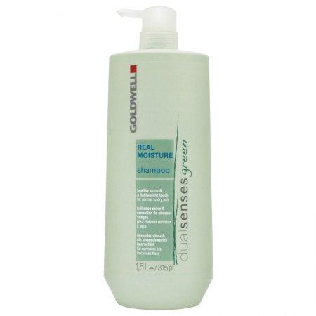 Goldwell Dualsenses Green Real Moisture, szampon organiczny do włosów normalnych i suchych, 1500ml