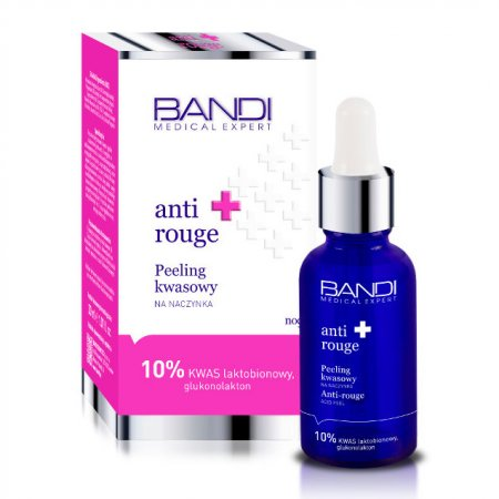 Bandi Medical Expert, Anti Rouge, peeling kwasowy na naczynka, 30ml