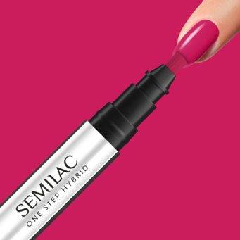 Semilac One Step Hybrid, lakier hybrydowy w markerze, 3ml, S680 Magenta