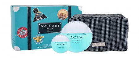 Bvlgari Aqva Pour Homme Marine, zestaw: Edt 100 ml + Edt 15 ml + Kosmetyczka (M)