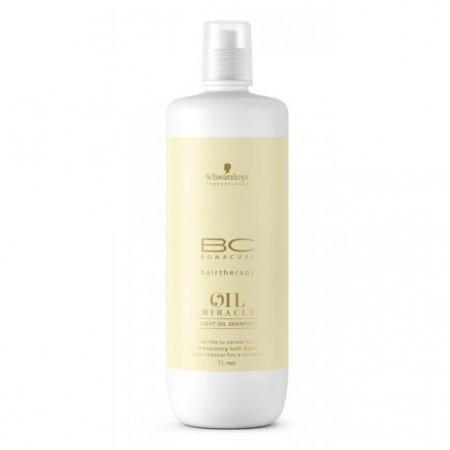 Schwarzkopf BC Oil Miracle Marula Oil, szampon z olejkiem z Maruli do włosów cienkich, 1000ml