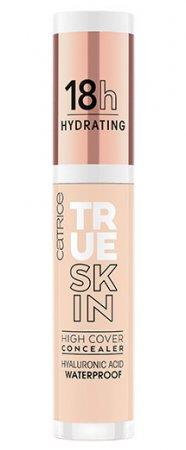 Catrice True Skin High Cover, nawilżający korektor mocno kryjący, Neutral Ivory 002, 4,5ml